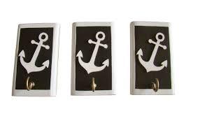 nautical hook decor anchor wooden hooks beach pendant marinistic
