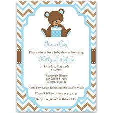 baby boy baby shower invitations baby shower invitations teddy baby boy chevron