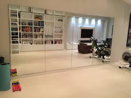modern interior design with minimalist home gym wall mirror solid