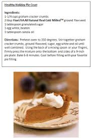 thanksgiving recipes pie crust recipe flax seed get cooking