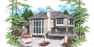 House Plans Sloped Lot Mascord House Plan 22105 The Ridgecrest
