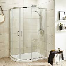 pacific offset quadrant shower enclosure with shower tray u0026 waste