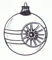 christmas ornament clip art black and white 25779 free clip