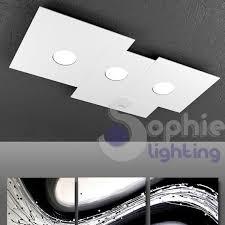 plafoniera soffitto soffitto 3 led 27w design bianco