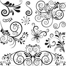 swirl floral ornaments vector 300x300 swirl floral