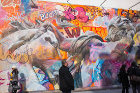 bowery wall u0027s newest mural by pichiavo mixes colors and classicism