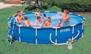 Intex Inflatable Pool Pool Intex Metal Frame Pool For Years Of Family Enjoyment