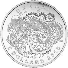 8 fine silver coin dragon dance