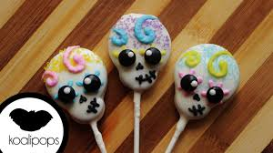 how to make skull cookie pops become a baking rockstar youtube