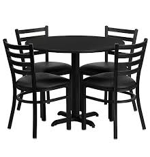 black round dining table set cafeteria breakroom round dining table sets restaurant tables chairs