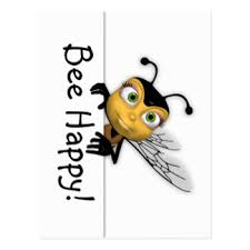 happy honey bee postcards zazzle