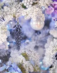 Blue And Purple Flowers Diy Faux Flowers Christmas Ornaments For A Floral Tree Love