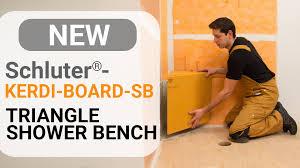Schluter Corner Bench How To Install A Triangular Shower Bench Schluter Kerdi Board Sb