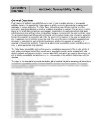 lab exercise antibiotic susceptibility testing pdf medical