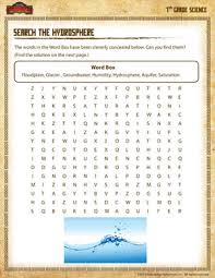 search the hydrosphere u2013 free science worksheets for 7th grade