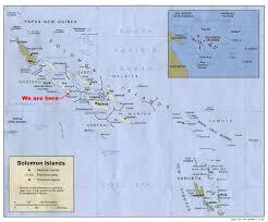Solomon Islands Map Solomon Dive Adventures Main Index Page