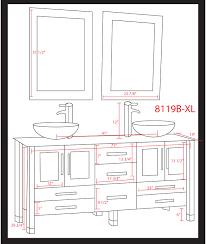 impressive bathroom vanity dimensions 7 sink sink