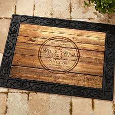 personlized wedding gifts personalized wedding doormat circle of recycled rubber