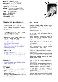 Sample French Resume by English Cv