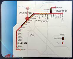 Metro Red Line Map by Urbanrail Net U003e Asia U003e Israel U003e Tel Aviv Metro Light Rail