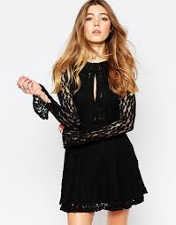 free people miles of lace dress black women evening