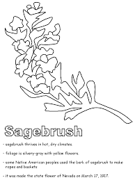 united states symbols coloring pages sagebrush coloring page