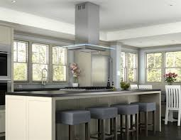 kitchen room rectangle brown lacquer oak wood island lively hood