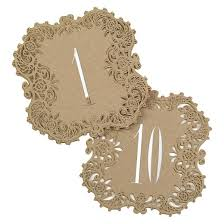 laser cut table number cards 1 10 brown target