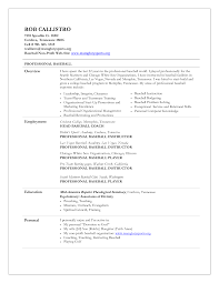 Soccer Coach Resume Sample baseball resume for college one page resume examples picture cv