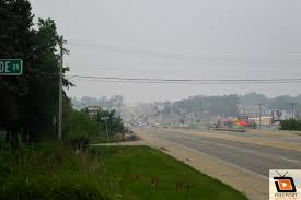 Canadian Wildland Fire Training by Smokey Skies And A Burnt Smell Fill Freeport Illinois Canadian