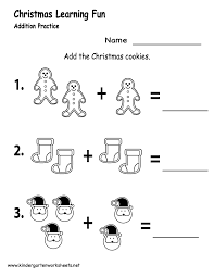 christmas math worksheets for kindergarten worksheets