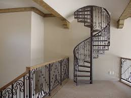 glamorous homes with spiral staircases combined black iron
