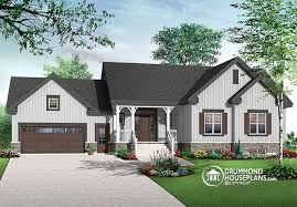 Narrow Lot House Plans With Rear Garage One Story House Plans With Garage U0026 One Level Homes With Garage