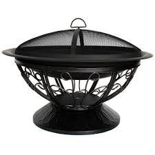 Steel Fire Pit - cobraco aegean 30 in steel fire pit fb8001 the home depot