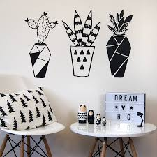 geometric cactus wall stickers taps and ranges geometric cactus wall stickers