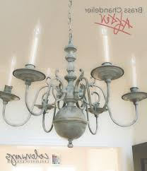 Brass Chandelier Makeover How To Paint Shiny Brass Chandelier Chandelier Designs