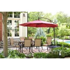 11 Ft Offset Patio Umbrella 11 Patio Umbrella Or Ft Fiberglass Collar Tilt