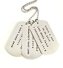 customized dog tag necklace personalized dog tag necklace custom sted trio