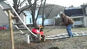 roller coaster for backyard dad builds a backyard roller coaster for his daughter cbs news