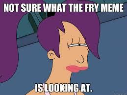 Fry Memes - not sure what the fry meme is looking at leela futurama quickmeme