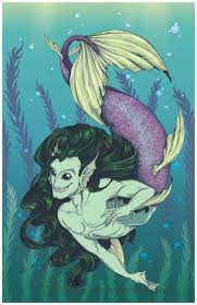 mythical male pin ups merman u0026 faun simply kitts illustrations