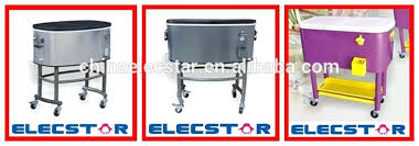portable rolling patio ice chest cooler cart rolling cooler cart