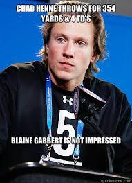 Blaine Gabbert Meme - chad henne throws for 354 yards 4 td s blaine gabbert is not