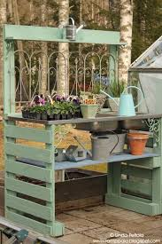 potting table with sink diy garden potting table using pallets old sink romppala lindan
