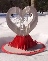 kissing couple in heart garden 3d pop up card laser cut card for
