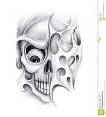 art skull tattoo stock illustration image 60909050