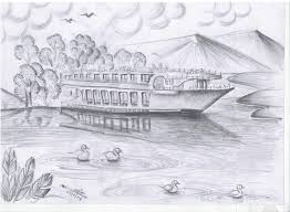 beautiful nature pencil sketch drawing of sketch