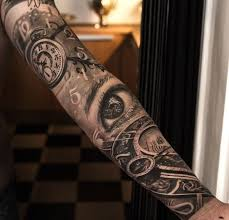 best 25 half sleeve tattoos with clocks ideas on pinterest half