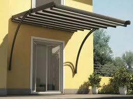tettoie per porte esterne tettoie a sbalzo in alluminio legno ferro acciaio