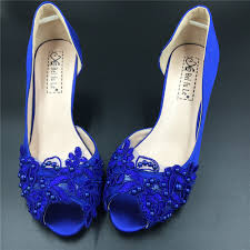 wedding shoes royal blue royal blue wedding shoes low heel low heels royal blue lace peep